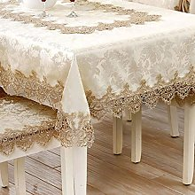 FuHouse 130x180cm Embroidered Ivory Floral Table
