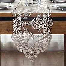 FuHouse 26x150cm Lace Floral Table Runner Cover