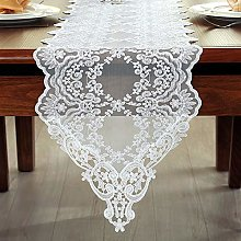FuHouse 30x150cm Lace Embroidered Floral Table