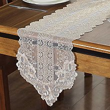 FuHouse 30x150cm Lace Floral Table Runner Cover