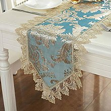 FuHouse 40x150cm Floral Embroidered Satin Table