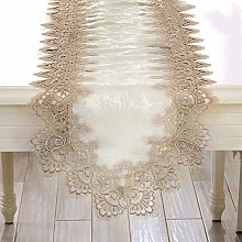 FuHouse 40x150cm Satin Table Runner Cover Cloth