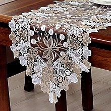 FuHouse 40x150cm White Champagne Lace Floral