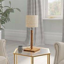 Fuji 45cm Table Lamp Good&Mojo Shade Colour: Linen
