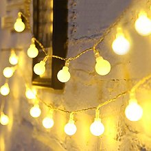 Fulighture Globe String Lights, 16ft 40LED Ball