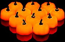 Fulighture LED Electric Flameless Pumpkin Candle