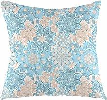 FULIYA Yellow and Blue Throw Pillow Cushion Cover