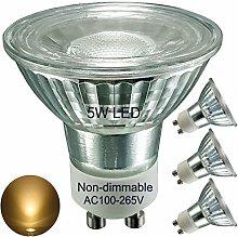Full Glass GU10 LED Bulbs,5W,Warm