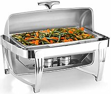 Full Size Roll Top Chafing Dish Stainless Steel