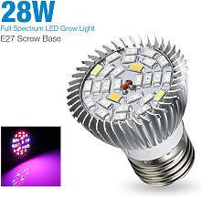Full Spectrum E27 LED Grow Light Bulb 28W Grow