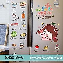 Full Sticker Double Door Creative air Conditioning