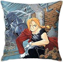 FullMetal Alchemist Square Pillowcase Soft Plush