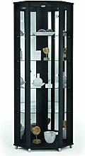Fully Assembled HOME Black Corner Glass Display