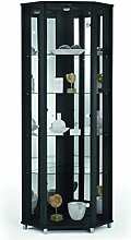 Fully Assembled HOME Black Corner Glass Display
