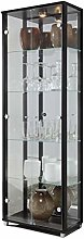 Fully Assembled HOME Black Double Glass Display