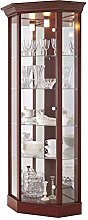 Fully Assembled HOME Corner Cabinet with Pelmet,
