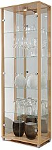 Fully Assembled HOME Double Glass Display Cabinet