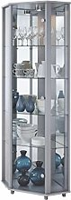 Fully Assembled HOME Silver Corner Glass Display