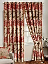 Fully Lined Curtain Ring Top Luxury Jacquard Heavy