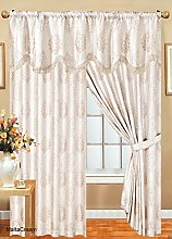Fully Lined Jacquard Pencil Pleat MALTA Curtain