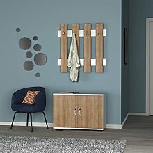 Fulya cabinet with 2 doors and a hanger with 4