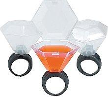 Fun Express Plastic Wedding Ring Shot Glass, Blue
