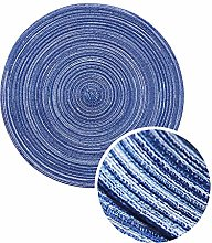 FunHouse 35CM Round Cotton Yarn Placemats Set of 4