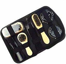 Funien Shoe Care, 8PCS Shoe Shine Care Kit Black &