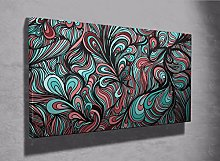 Funky abstract pattern framed canvas print