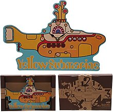 Funky Beatles Yellow Submarine Wall Clock PDS
