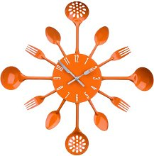 Funky Colours Cutlery Kitchen Utensil Wall Clock