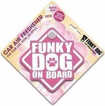 Funky Dog On Board Air Freshener Bubblegum - sgl - 400515