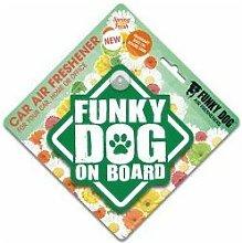 Funky Dog On Board Air Freshener Springfresh - sgl - 400526