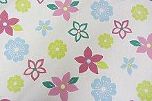 Funky Flowers Duckegg Cotton Curtain Designer