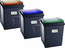funky gadgets 50L Pack Of 3 Recycle Bin