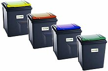 funky gadgets 50L Pack Of 4 Recycle Bin