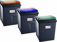funky gadgets 50L Plastic Recycle Bin Waste