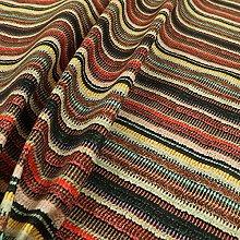 Funky Multicolour Designer Striped Pattern Velour