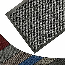 FunkyBuys Barrier Mat Large Grey/Black Door Mat