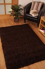 FunkyBuys® Branded CHOCOLATE BROWN Shaggy Rugs