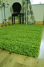 FunkyBuys® Branded LIME GREEN Shaggy Rugs Large