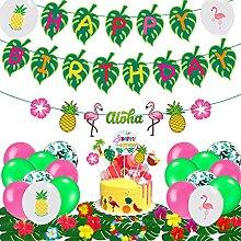Funnlot Hawaiian Birthday Decorations Tropical