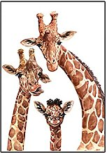 Funny Animal Family Canvas Paintings Watercolor