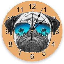 Funny Animal PVC Wall Clock, Silent Non-Ticking