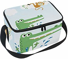 Funny Animals Lunch Box Insulated Lunch Bag Large