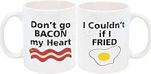 Funny Bacon Eggs Couple Mug Novelty Baon Eggs