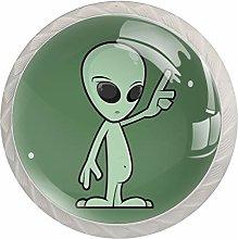 Funny Cartoon Alien Crystal Drawer Cabinet Knobs