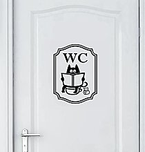 Funny cat Toilet Sign Sticker Small Indoor