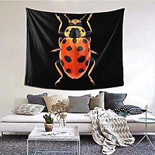 Funny Club Orange Beetle Tapestry Wall Hanging