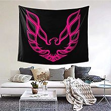 Funny Club Pink Firebird Tapestry Wall Hanging